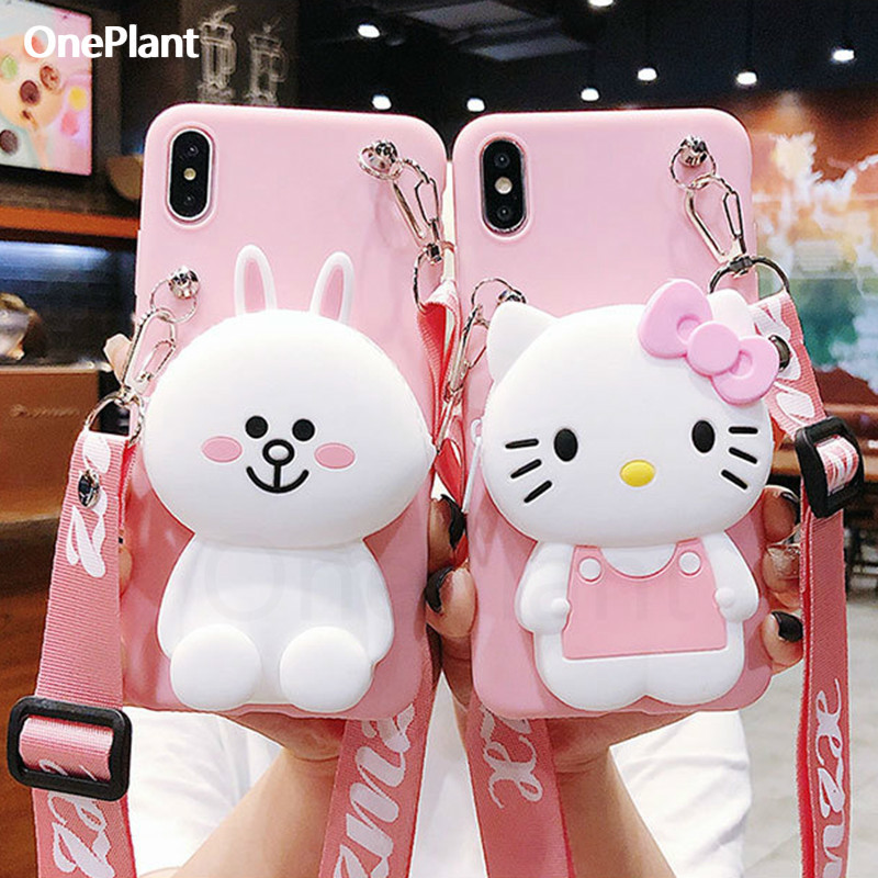 <font><b>Cute</b></font> Cartoon 3D Silicone Storage bag <font><b>Phone</b></font> <font><b>Case</b></font> For iPhone X XR Xs Max 6 6s 7 8 Plus Rubber Cover For <font><b>Samsung</b></font> S8 S9 S10 <font><b>Note</b></font> 8 <font><b>9</b></font> image