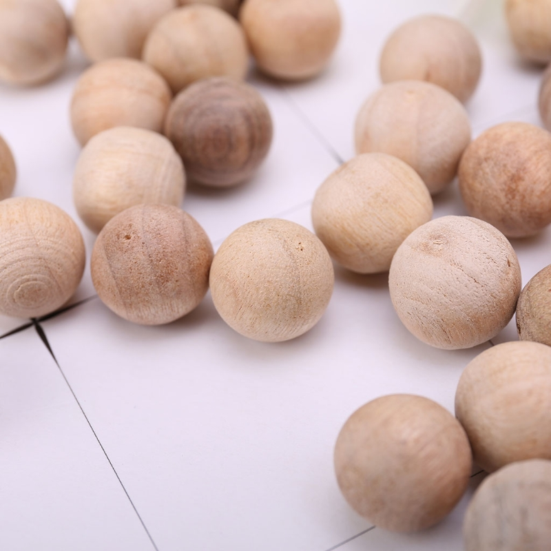 100Pcs Natural Cedar Wood Moth Balls Camphor Repellent Wardrobe Clothes Drawer M4YD