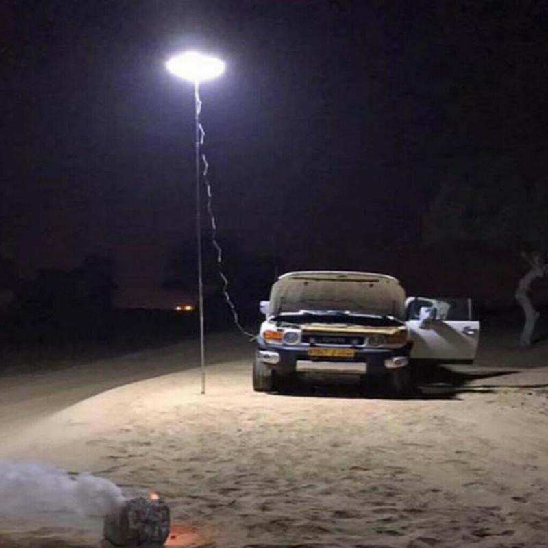 espiga telescópica led spotlight pesca acampamento ao