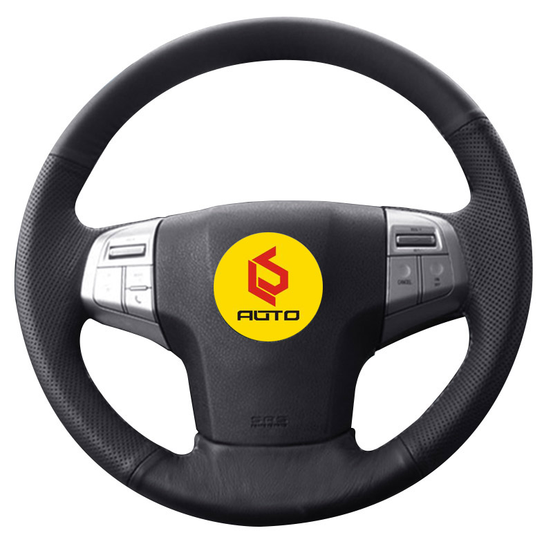 Braid on the Steering Wheel Cover for isuzu dmax 2014 mu x leather steering wheel case auto Accessories cubierta del volante|Steering Covers| |  - title=