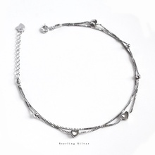 ZOBEI Minimalist 925 Sterling Silver Circle Anklet For Women Round Geometric Metal Chain Fine Jewelry Party Birthday Gift