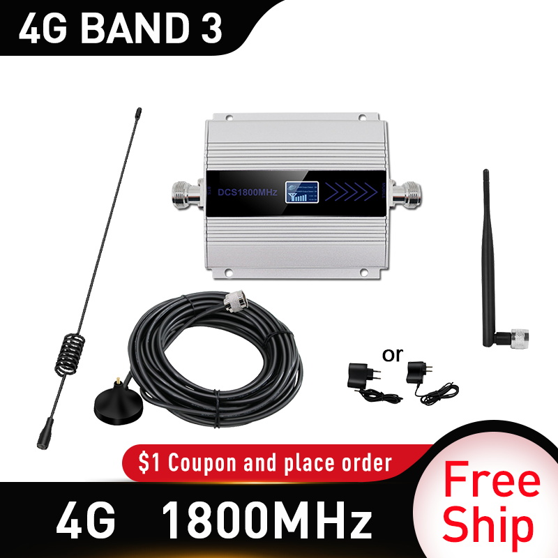 1800mhz Cellular Amplifier Repeater 2g 4g 1800mhz GSM Mobile Signal Booster 4g Signal Booster 1800 Dcs Sucker Outdoor Antenna
