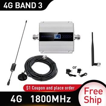 Repetidor amplificador celular de 1800mhz 2g 4g 1800mhz GSM amplificador de señal móvil 4g amplificador de señal 1800 dcs antena exterior