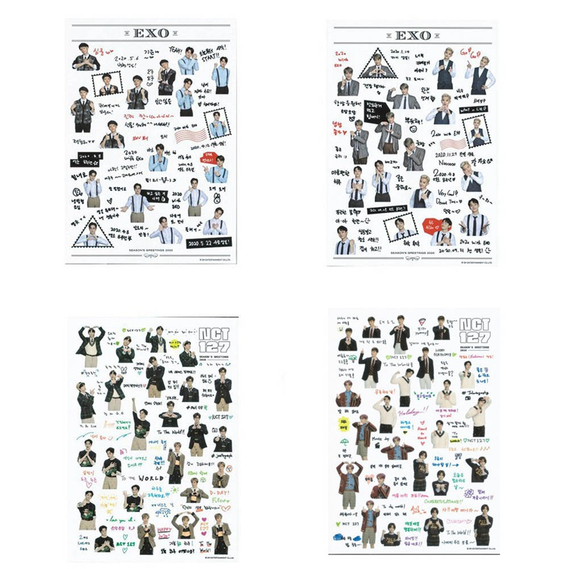 1Pcs Waterproof Transparent Stickers EXO NCT 127 DIY Stationery Sticker Scrapbooking Decor