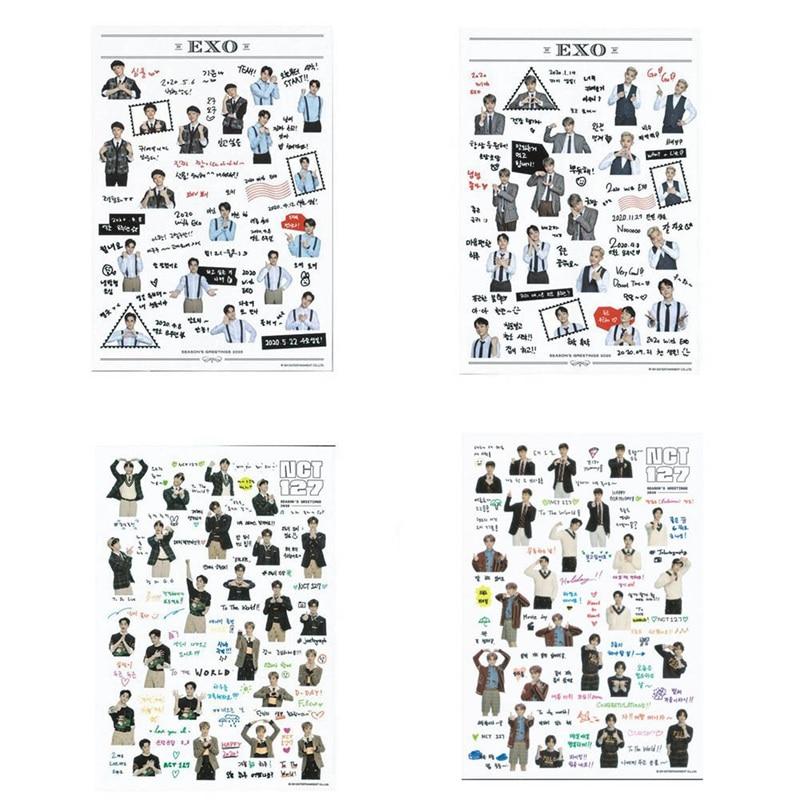 1Pcs Waterproof Transparent Stickers EXO NCT 127 DIY Stationery Sticker Scrapbooking Decor