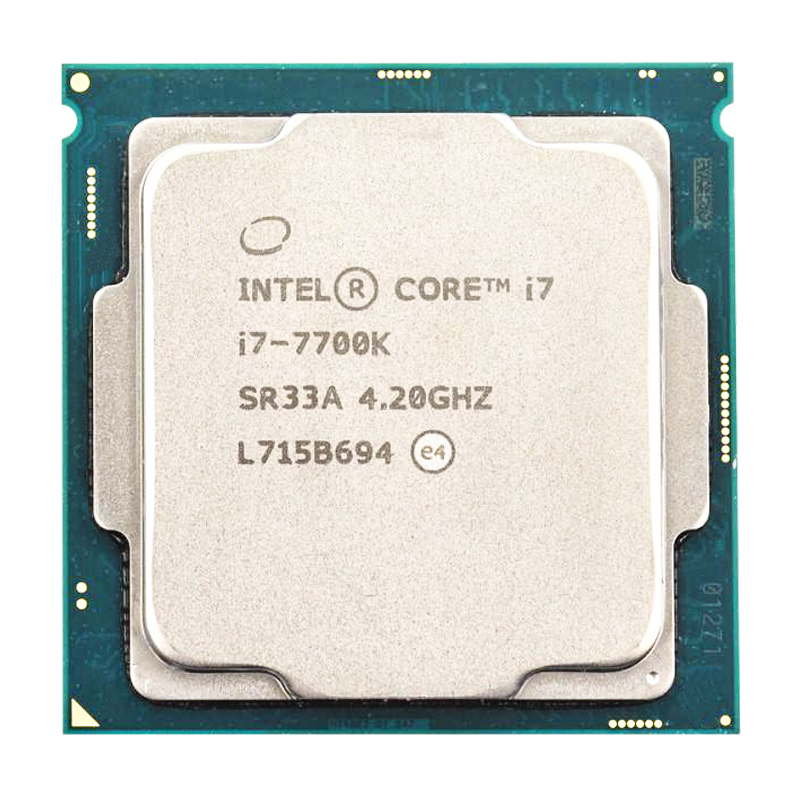 Intel Core i7-7700K Quad-Core cpu 4,2 GHz 8-Gewinde LGA 1151 91W 14nm i7 7700K prozessor getestet arbeits