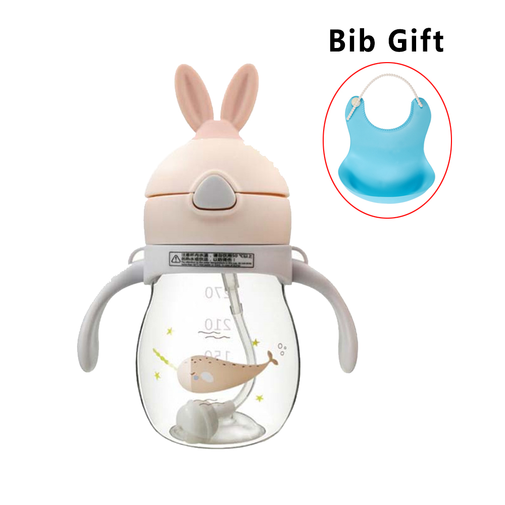 Baby Bottle Milk BPA Free 320ml Newborn Feeding Bottle For Infant Nipple Bottle Baby Care Bottle For Gift Silicone Baby Bib