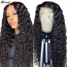 Barato onda de água peruca transparente do laço do cabelo humano perucas para preto feminino glueless 13x1 t parte peruca do laço encaracolado peruca de cabelo humano remy
