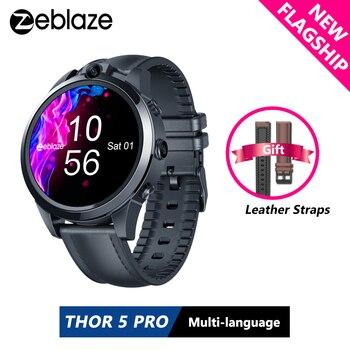New Flagship Zeblaze THOR 5 PRO Ceramic Bezel 3GB+32GB Dual Camera 800mAh GPS Google Play Watch Face Unlock Smart Watch Gift