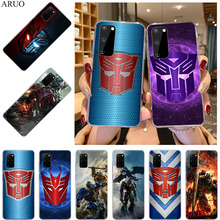 Transformers Autobot Logo Clear Soft TPU Phone Case For Samsung S21 Ultra S20 FE Note 20 10 Pro 9 8 S10 Lite S10E S9 Plus Cover