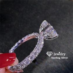 CC Wedding Rings For Women Princess Luxury Propose Engagement Bridal Jewelry Cubic Zirconia Round Stone Fashion Bijoux CC2101