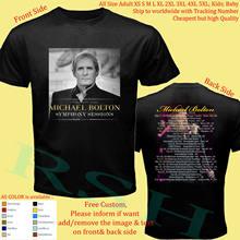 Майкл Болтон любовь песня самые большие хит Тур 2020 футболка взрослые S 5Xl Молодежные младенцы