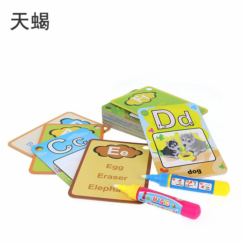Children Cognitive With Numbers Painting Story Card Lettered Water Explicit Painting Mom And Baby Educational Toy