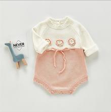Милый осенний вязаный свитер для маленьких девочек; Комбинезон