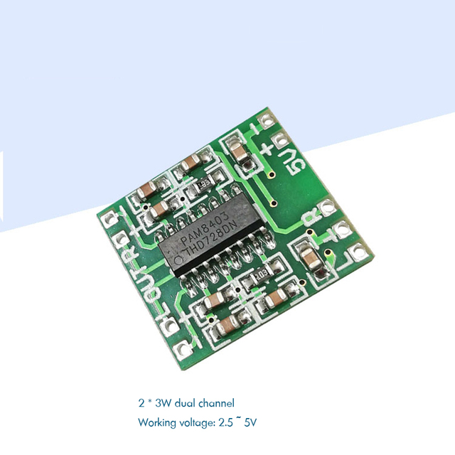PAM8403 carte amplificateur numérique 2x3W double canaux USB 5V Mini Module amplificateur Audio classe D pour moniteur de haut-parleur pour ordinateur portable TV