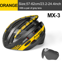 Orange 1 Lens-INBIKE Cycling Helmet with Goggles Ultralight MTB Bike Helmet Men Women Mountain Road casco Sport Specialiced Bicycle Helmets