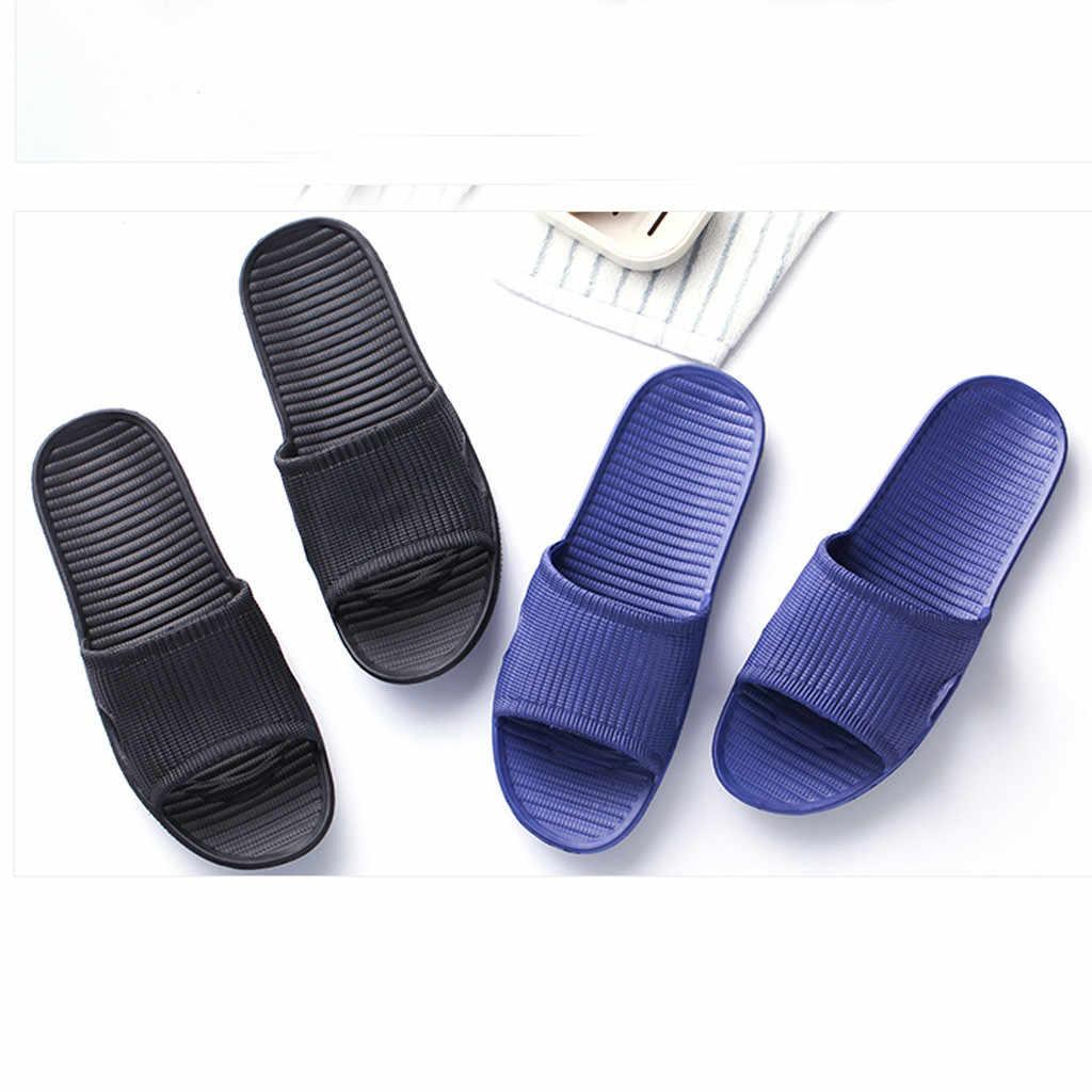 Zapatillas planas de ducha para hombres, zapatillas de baño suaves Ultra ligeras, zapatillas de Interior Exterior, chanclas antideslizantes para hombre, zapatos de playa