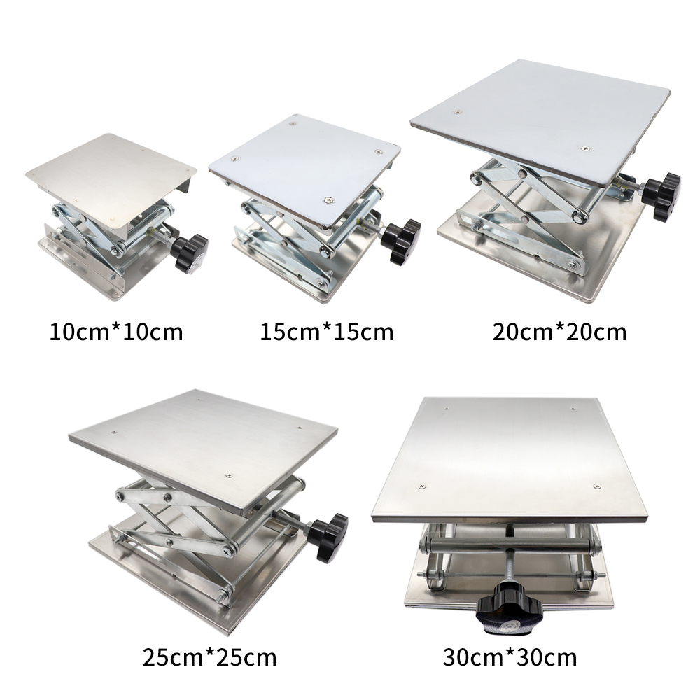 Laboratory Stainless Steel Manual Lifting Platform 100 150 200 250 300mm