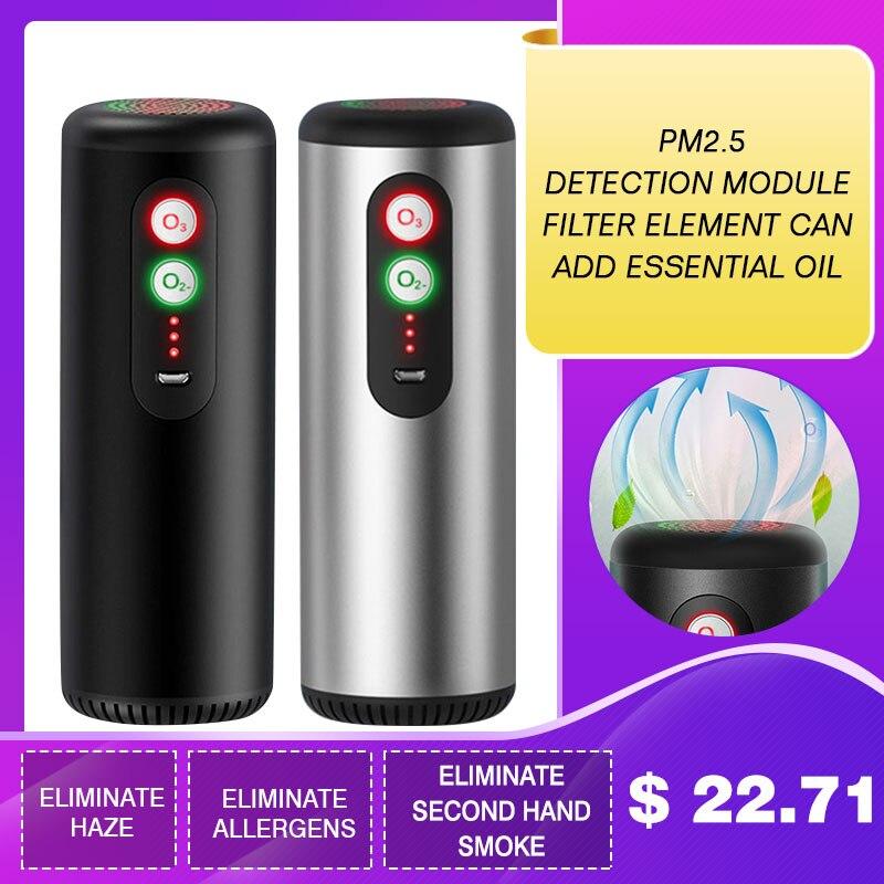 Car Air Purifier Hepa Filter With HEPA Filter Fresh Air Anion Car Air Purifier Infrared Sensor Air Cleaner Best For Car Home