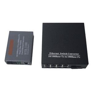 Image 1 - 1 Cặp 10/100 Mbps Fiber Optic Media Chuyển Đổi 1 CH * SC 8 CH * RJ45 Netlink Htb Chuyển Đổi 1 CH * SC 1 CH * RJ45 Thu Phát Sợi Quang