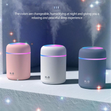 300ML Ultrasonic Air Humidifier Electric Air Diffuser Oil Humidifier LED Night Light Up Home Relax Defuser Mist Maker Night Lamp