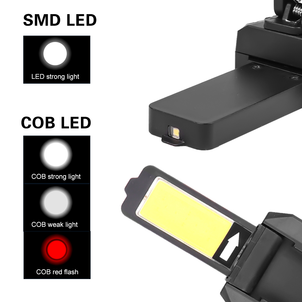 USB COB LED Magnetic Work Light Car Garage Mechanic Home Rechargeable Torch*Lamp