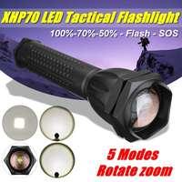led flashlight 90000 lumens xhp70.2 most powerful flashlight 26650 usb torch xhp70 lantern 18650 hunting lamp hand light