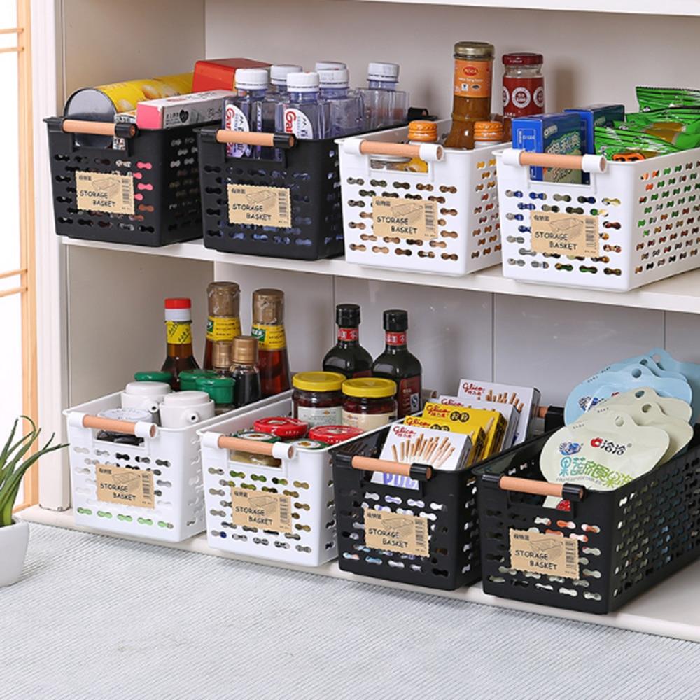Storage Basket Plastic Multi-functional Vegetables Fruit Racks Refrigerator Storage Kitchen Bedroom Sundries Snacks Organizer