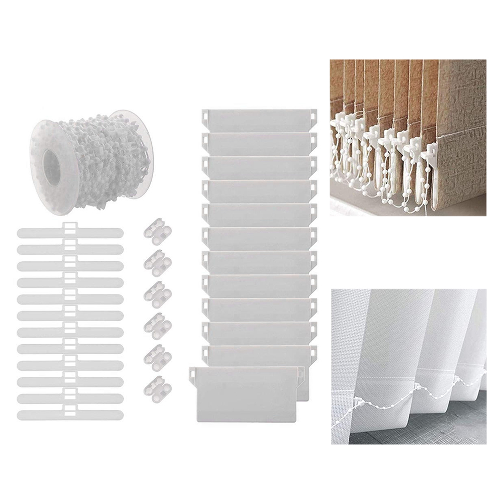 Home Decor Bracket Vertical Blind Accessories Plastic Bottom Chain Connectors Top Hangers 89mm Weights Slats Cluth Control Ends