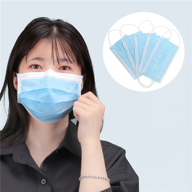 10/20/50pcs Pink Color Non-woven Face Mask  Breathable Mask with Elastic Earband 5