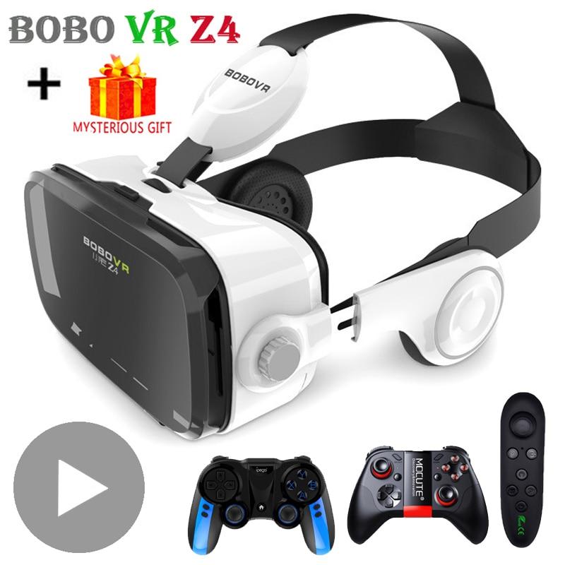 Bobo VR Bobovr Z4 3 D Casque Viar 3D VR Glasses Virtual Reality Headset Helmet Augmented Goggles Lenses for Phone Smartphone Set