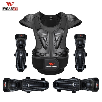 WOSAWE Motorcycle Armor Protection Vest Racing Clothing Suit Body Protection Jacket Protective Gear Elbow Pads Knee Pads wosawe mtb motorcycle knee elbow protective pad set motocross snowboard racing ski racing roller body protection knee pads kits