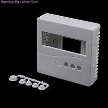 1 pçs branco 8.6x8.6x2.6cm caso para diy lcd1602 medidor testador com botão 86 caixa de projeto plástico gabinete