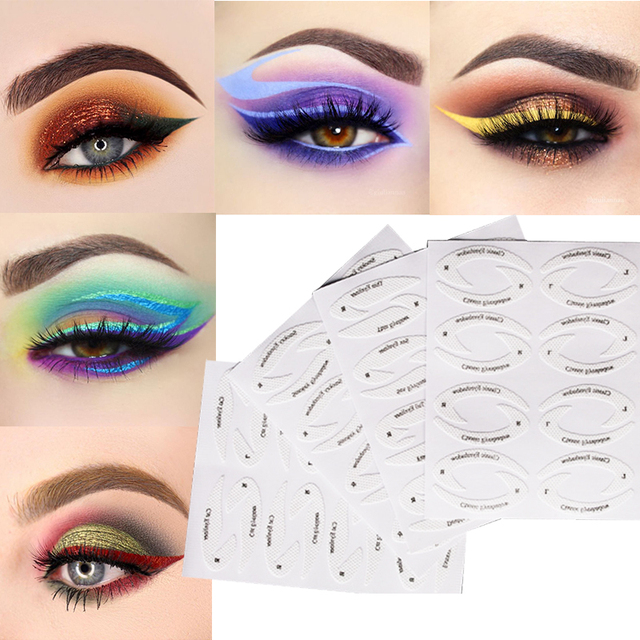 Eye Makeup Quick Eyeliner Eyeshadow Stencil Stickies 1 PC/4 PCS Lazy Useful Eye Shadow Moulds Card Draw Eye Template Beauty Tool 1