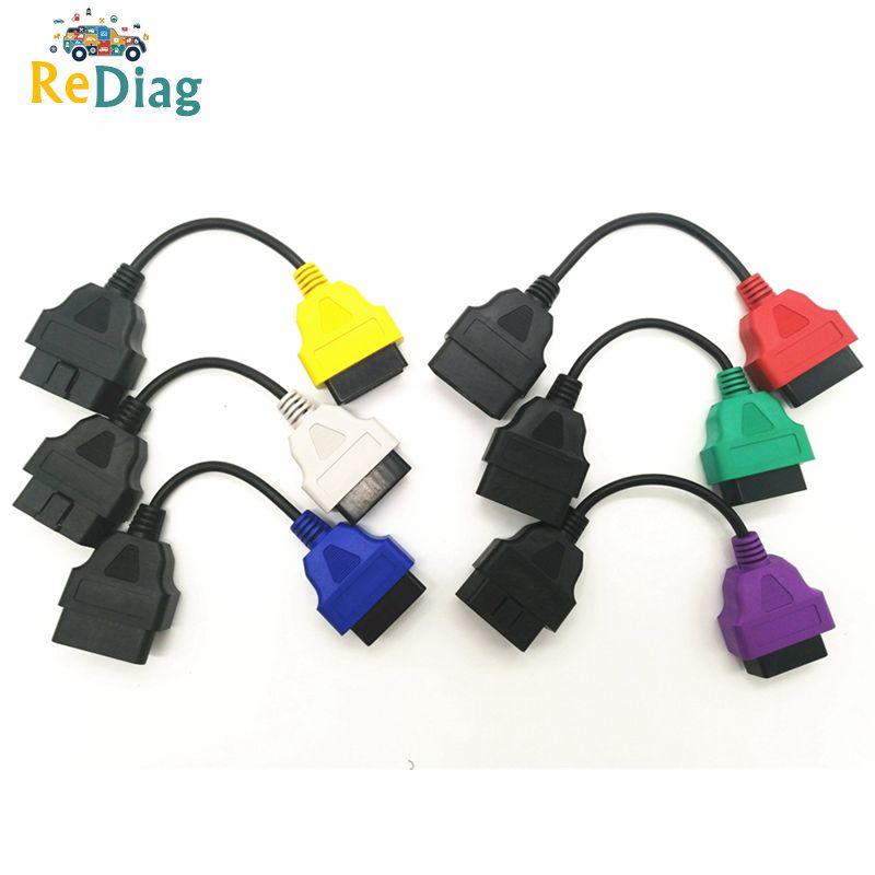 Haute qualité 6 PCS/LOT pour FIAT ECU OBD2 connecteur câble de Diagnostic pour Fiat ECU Scan MultiECUScan câble pour Fiat