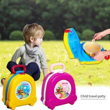 Portable Cute Cartoon Travelling Baby Potty Newest Car Squat Kids Outdoor Toilet Trainer Urinal Seats Potties