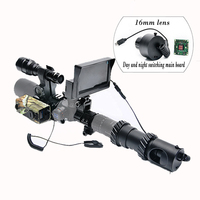 Quick Disassembly DIY Infrared Night Vision Sight Scope CCD Set Rangefinder & LCD Screen & Flashlight Day Night Use for Hunting