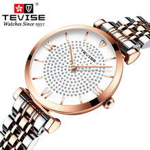 2019 TEVISE Luxury Women Watch Stainless