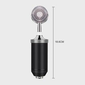 Image 4 - BM 8000 kondenser kablolu mikrofon kiti 3.5MM kayıt stüdyosu mikrofon Pop filtresi ile KTV Karaoke bilgisayar yayın