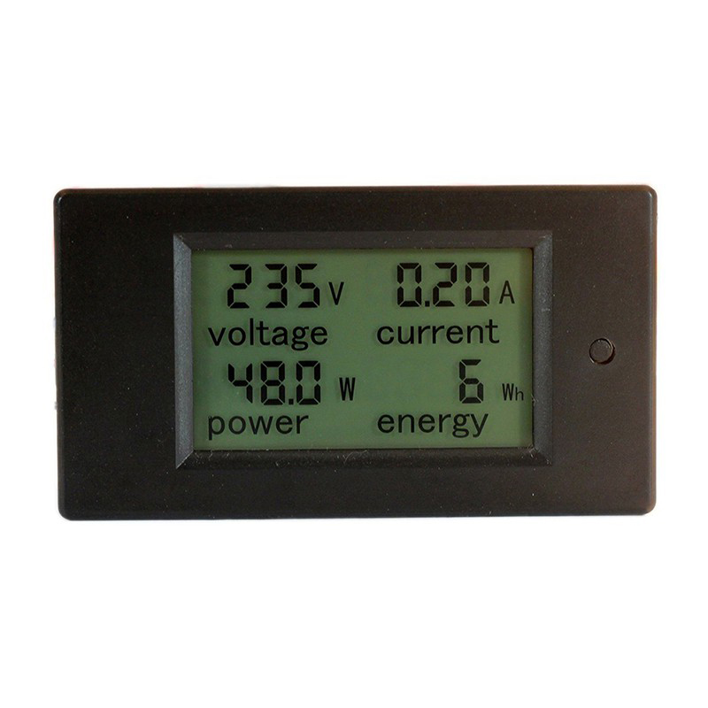 Digital AC Voltage Meters 100A/80~260V Power Energy Voltmeter Ammeter Watt Current Amps Volt Meter LCD Panel Monitor