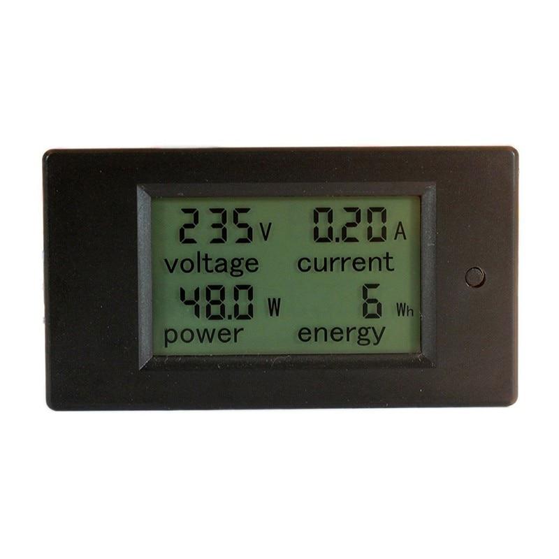 Digital AC Voltage Meters 100A/80~260V Power Energy Voltmeter Ammeter Watt Current Amps Volt Meter LCD Panel Monitor