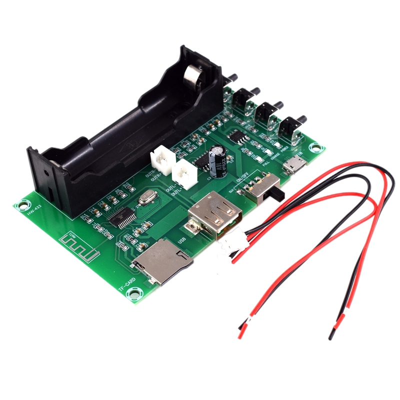 XH-A150 Lithium Battery Bluetooth Digital Power Amplifier Board 5W+5W Mouth Power DIY Small Speaker Rechargeable for Android