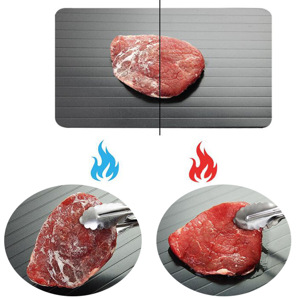 0.2CM/0.3CM Fast Defrosting Tray Thaw Frozen Food Meat Fruit Quick Defrosting Plate Board Defrost Kitchen Gadget Tool