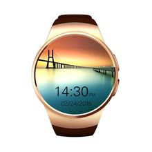 KW18 Smart watch round screen Bluetooth card call sports men and women positioning heart rate monitoring wristwatch