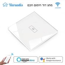 Interruptor inteligente Wifi para caldera, Control por voz con Panel táctil, temporizador, funciona con Alexa y Google Home, ISRAEL, Tuya