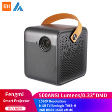 Xiaomi Fengmi inteligentny projektor kina domowego TV Full HD 1080P 550ANSI lumenów Android wsparcie 4K 3D USB3 0 HDMI DOLBY DTS tanie tanio NONE CN (pochodzenie) M055FCN Xiaomi Fengmi Smart Projector TV Entertainment Projector Support 1 0 - 5 0m