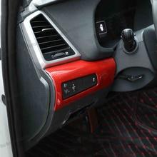 Lsrtw2017 Stainless Steel Car Headlight Control Panel Trims for Hyundai Tucson 2015 2016 2017 2018 Carbon Fiber Accessories lsrtw2017 stainless steel car wheel hup cap panel for hyundai santa fe 4th generation 2019 2020