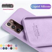Para Samsung A51 A71 A50 A70 S20 S21 FE caso líquido suave de silicona caso para A31 A21S S21 Ultra S10 S9 más A52 A72 A42 A12 A32 5G