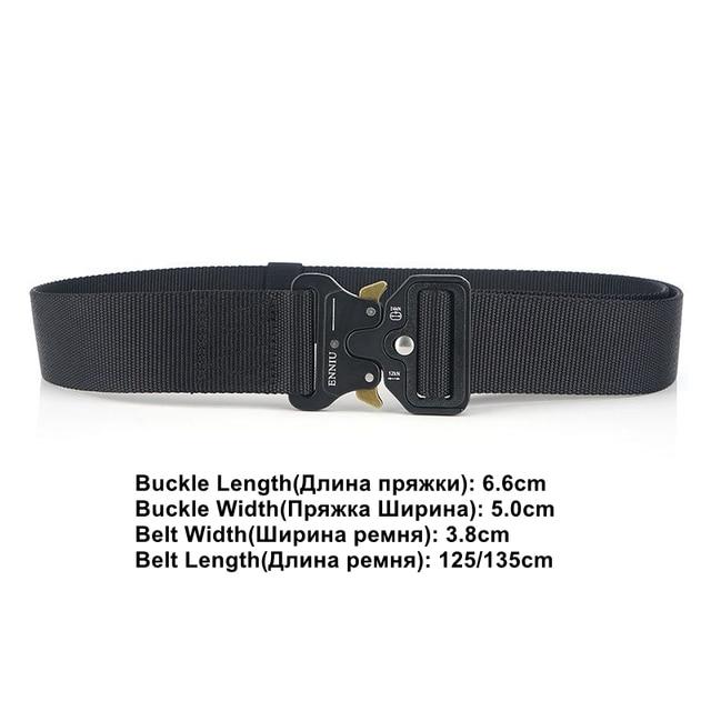 Nylon Tactical Belt Army Belt Men Outdoor Training Belts Black High Quality Easy Unlock Metal Military Buckle Belt 2