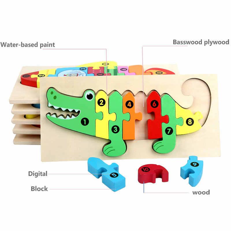 3D Bộ Ghép Hình Bằng Gỗ Đồ Chơi Trẻ Em Hoạt Hình Hình Bộ Đồ Chơi Bảng Ghép Hình Sâu Bướm Cá Sấu Xe Tải V. V Montessori Đồ Chơi Học Tập Cho Trẻ Em